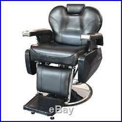 Heavy Duty Hydraulic Recline Barber Chair Salon Tattoo Beauty Chair Hair Cutting