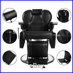 Heavy Duty Hydraulic Recliner Barber Chair Salon Shampoo Styling Equipment Black