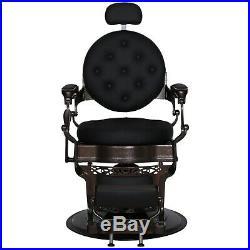 Heavy Duty Metal Vintage Barber Chair All Purpose Hydraulic Recline SpaChair3849