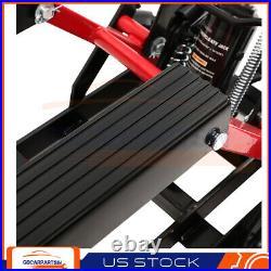 Heavy Duty Motorcycle ATV Jack Lift Stand Quad Dirt Street Bike Hoist 1500 Lbs