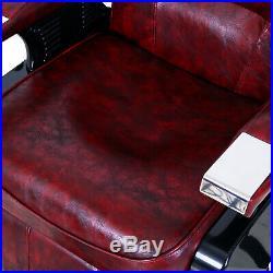 Heavy Duty Professional Barber Shop Chair Hydraulic Recline Salon Hair Styling