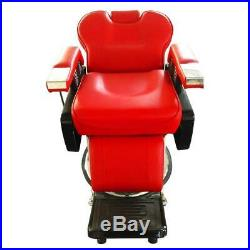 Heavy Duty Reclining Hydraulic Barber Chair Shampoo All Purpose Haircut Beauty