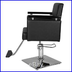 Heavy Duty Square Beauty Hydraulic Classic Barber Chair Styling Salon Haircut