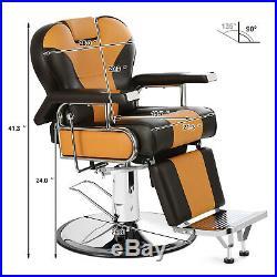 Hydraulic Barber Chair Reclining Heavy Duty Beauty Salon Professional Equipment
