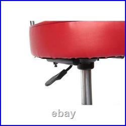 Hydraulic Stool Wheels Adjustable High Chair Work Shop Garage Vendor Heavy Duty