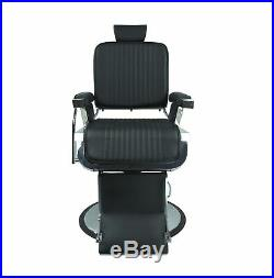 JAXSON Heavy Duty Barber Chair BLACK Reclining, Hydraulic Barber Chair