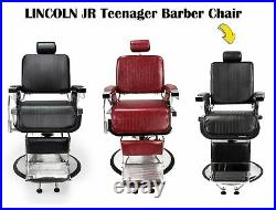 LINCOLN JR Barber Chair Heavy Duty Hydraulic Teenager Barber Chair, No Recline
