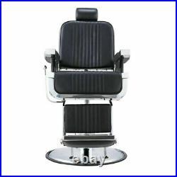 Leather Barber Chair Professional Hydraulic Best Heavy-Duty Pump Full Reclining
