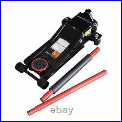 Max Load 3 Ton Low Profile Heavy Duty Steel Jack with Quick Pump