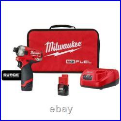 Milwaukee 2551-22 M12 Fuel Surge 1/4 Hex Hydraulic Driver Kit NEW