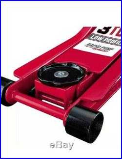 NEW 3 Ton LOW PROFILE Floor Jack Rapid Pump Heavy Duty Steel Lowrider Mechanic