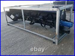 NEW 72 Skid steer Soil Cultivator HEAVY DUTY Hydraulic Roto Tiller Skidsteer