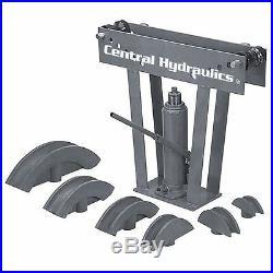 NEW Hydraulic Pipe Tube Bender 6 Dies Tubing Exhaust Bending 12 Ton HEAVY DUTY