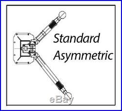NEW Launch 9,000 lb. Asymmetric 2 Post Auto Lift Car Hoist FREE Truck Adapters