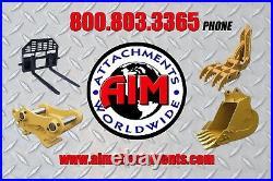 New 18 x 50 Heavy Duty Hydraulic Excavator Thumb