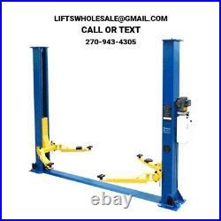 New 9,000 lbs. 2-Post Auto Lift Floor Plate Model Symmetric Arms 220V