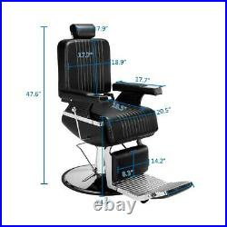 New Heavy Duty Hydraulic Recline Barber Chair Salon Beauty All Purpose Equipment