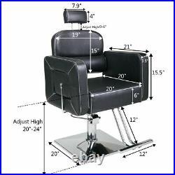 New Hydraulic Barber Chair Heavy Duty Styling Salon Beauty Shampoo Spa Equipment