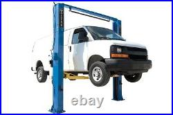 New Titan 11,000 LB 2-Post Auto Lift-Clearfloor Model with Asymmetric Arms