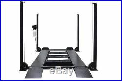 New Titan 8,000 lbs. 4-Post Auto Lift with Ramps, Jack Tray, Drip Trays, Casters