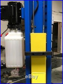 New Titan 9,000 lbs. 2-Post Auto Lift ClearFloor Hoist Asymmetric Arms