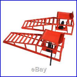 One Pair Red Hydraulic Auto Car Service Ramp Lifts Heavy Duty Hydraulic Ramp