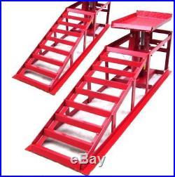 Pair Lifting Car Ramp Jack 2t 2 Heights 55337 Hydraulic Adjustable Maintenance R