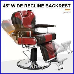 Professional Heavy Duty Barber Chair All Purpose Hydraulic Recline Beauty Salon