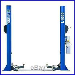 QYS 10,000 lb L1000 Two Post Lift Car Auto Truck Hoist Single Side Safety Unlock