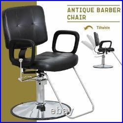 Reclining Barber Chair Heavy Duty Hydraulic Salon Beauty Shampoo Styling Station