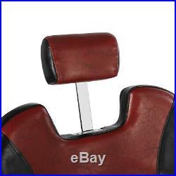 Super Wide Hydraulic Reclining Barber Chair All Purpose Heavy Duty Salon Beauty