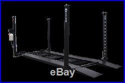 Titan XLT 8,000 lbs 4-Post Storage Lift Ramps Jack Tray 3 Drip Trays Casters
