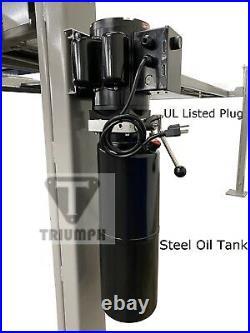 Triumph 8,000 lbs. 4-Post Parking Lift Ramps Jack Tray 3 Drip Trays Caster Kit
