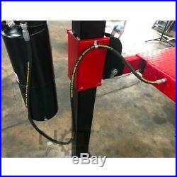 Triumph 9,000 lbs. 4-Post Auto Car Lift wRamps Jack Tray 3 Drip Trays Caster Kit