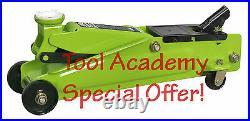 Trolley Jack 3 Tonne Heavy Duty Hydraulic Hi Vis Bright Green
