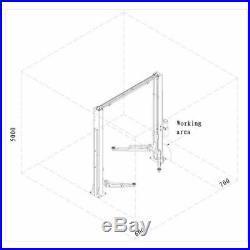 Two Post L1400L Auto Car Lift Truck Hoist Overhead 14,000 lb. Capacity 110V