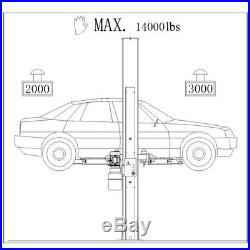 Two Post L1400 Auto Lift 14,000 lb. Capacity Car Vehicle Lift 220V Free Shipping