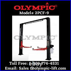 Two Post Overhead Car Lift Olympic 9,000 LB COMMERCIAL QUALITY 5-YEAR WARRANTY