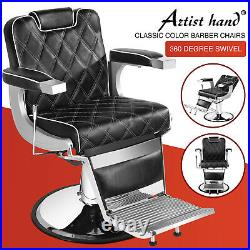 Vintage All Purpose Hydraulic Barber Chair HeavyDuty Recline Salon BeautyStyling