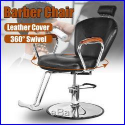 Vintage Hydraulic Reclining Salon Barber Chair Beauty Hair Styling Heavy Duty