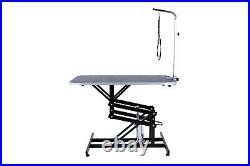 Z-Lift Hydraulic Pet Grooming Table WithAdjustable Arm Noose for Dog and Cat Black